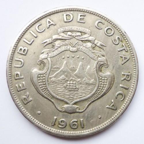 Coin 2 Colones 1961 Costa Rica Obverse