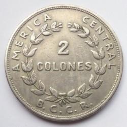 Moneta > 2kolonai, 1961 - Kosta Rika  - reverse