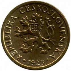 Moneda > 10hellers, 1922-1938 - Checoslovaquia  - obverse