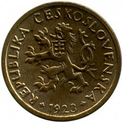 Moneda > 10hellers, 1922-1938 - Checoslovaquia  - reverse