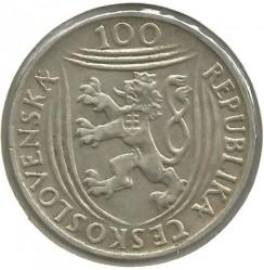 Moneta > 100corone, 1951 - Cecoslovacchia  (30° anniversario - Partito comunista) - obverse