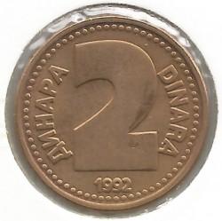 Moneta > 2dinarai, 1992 - Jugoslavija  - reverse