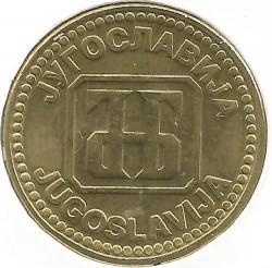 Monēta > 10dināru, 1992 - Dienvidslāvija  - obverse