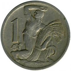 Moneta > 1corona, 1922-1938 - Cecoslovacchia  - reverse