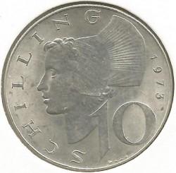 Coin > 10schilling, 1973 - Austria  - reverse