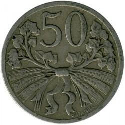 Moneta > 50halerzy, 1921-1931 - Czechosłowacja  - obverse