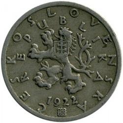 Moneta > 50halerzy, 1921-1931 - Czechosłowacja  - reverse