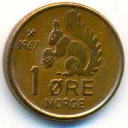 Moneda > 1öre, 1958-1972 - Noruega  - reverse