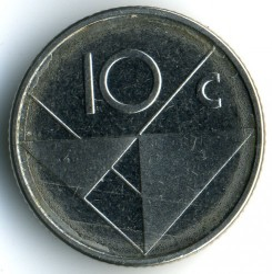 Moneta > 10centų, 2013 - Aruba  - obverse