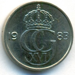 Coin > 25 ore, 1983 - Sweden  - obverse
