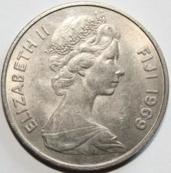 Monedă > 20cenți, 1969-1985 - Fiji  - obverse