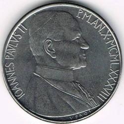 Mynt > 50lire, 1988 - Vatikanstaten  - obverse