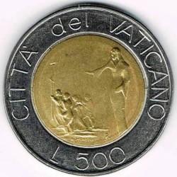 Minca > 500lire, 1991 - Vatikán  - reverse