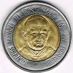 Mynt > 500lire, 1993 - Vatikanstaten  - obverse