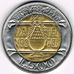 Mynt > 500lire, 1993 - Vatikanstaten  - reverse