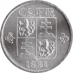 Moneta > 5halerzy, 1991-1992 - Czechosłowacja  - obverse