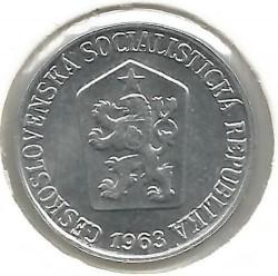 Moneda > 3hellers, 1962-1963 - Checoslovaquia  - obverse