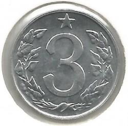 Moneda > 3hellers, 1962-1963 - Checoslovaquia  - reverse