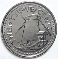 Münze > 25Cent, 2007-2011 - Barbados  - reverse