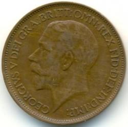 Minca > ½penny, 1911-1925 - Veľká Británia  - obverse