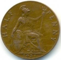Minca > ½penny, 1911-1925 - Veľká Británia  - reverse