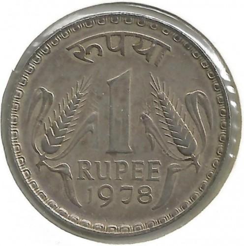 1 rupee 1975-1979, India - Coin value - uCoin net