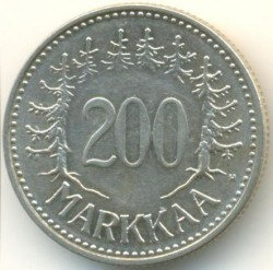 Münze > 200Mark, 1956 - Finnland  - reverse