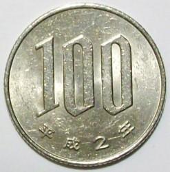 Minca > 100yen, 1990-2018 - Japonsko  - reverse