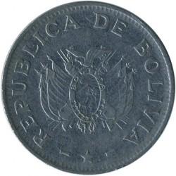 Moneta > 1bolivianas, 1987-2008 - Bolivija  - obverse