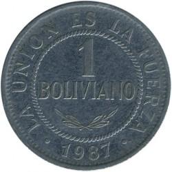 Mynt > 1boliviano, 1987-2008 - Bolivia  - reverse