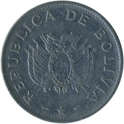 Moneta > 1bolivianas, 1987-2008 - Bolivija  - reverse