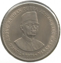 Coin > 5ringgit, 1971 - Malaysia  - obverse