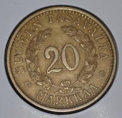 Münze > 20Mark, 1936 - Finnland  - reverse
