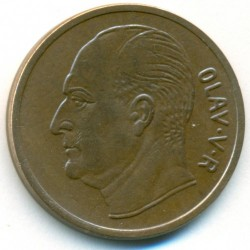 Mynt > 5 ore, 1958-1973 - Norge  - obverse