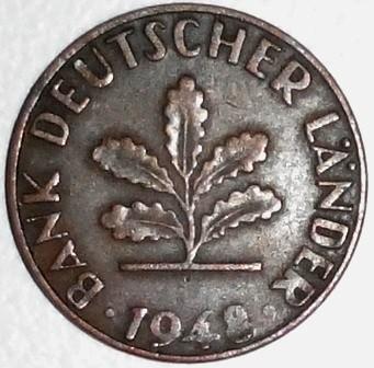1 Pfennig 1948 1949 Deutschland Münzen Wert Ucoinnet