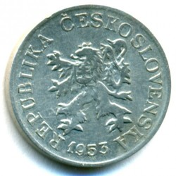 Moneta > 3hellers, 1953-1954 - Cecoslovacchia  - obverse