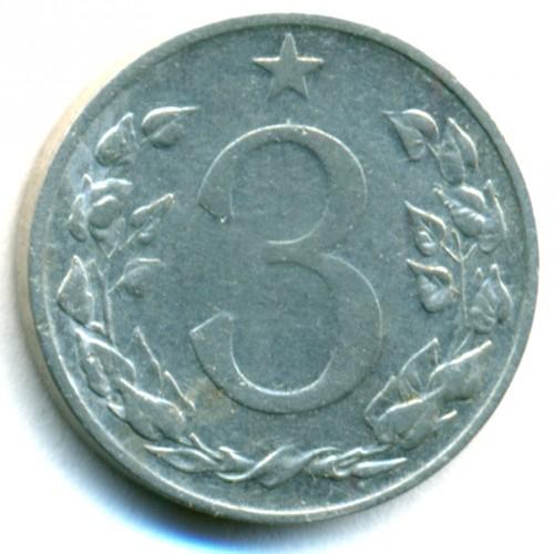 3 Heller 1953 1954 Tschechoslowakei Münzen Wert Ucoinnet