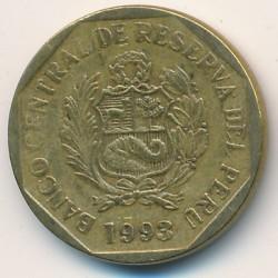 سکه > 10سنتیمو, 1991-2000 - پرو  - obverse