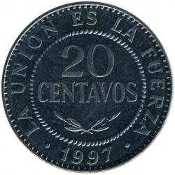 Mynt > 20centavos, 1987-2008 - Bolivia  - reverse