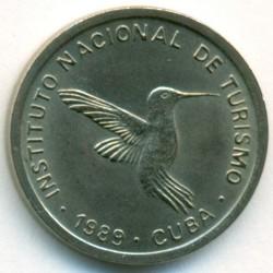 Monēta > 10sentavo, 1989 - Kuba  (INTUR: Non-magnetic, diametr 17.5mm) - obverse