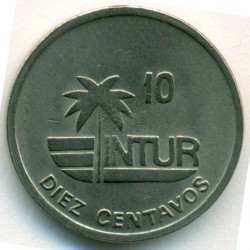 Monēta > 10sentavo, 1989 - Kuba  (INTUR: Non-magnetic, diametr 17.5mm) - reverse