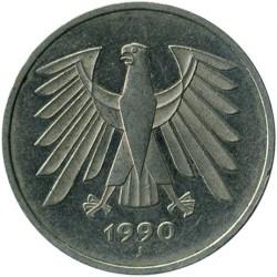 Münze > 5Mark, 1990 - Deutschland  - obverse