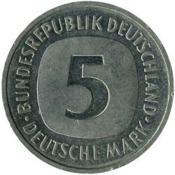 Münze > 5Mark, 1990 - Deutschland  - reverse