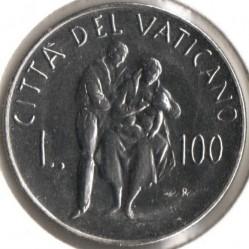 Mynt > 100lire, 1982 - Vatikanstaten  (Family Unit) - reverse