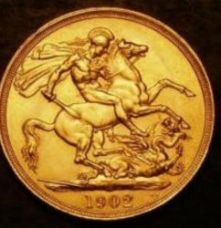 Monēta > 2mārciņas, 1902 - Lielbritānija  - reverse