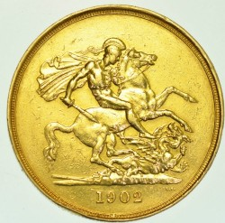 Moneta > 5funtów, 1902 - Wielka Brytania  - reverse