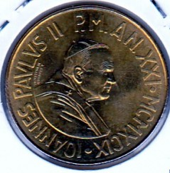 Minca > 200lire, 1999 - Vatikán  - reverse