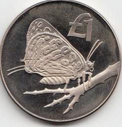 Монета > 1фунт, 2002 - Кипр  (Бабочка) - reverse