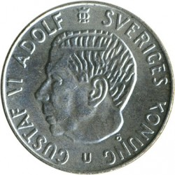 Pièce > 1krona, 1952-1968 - Suède  - obverse