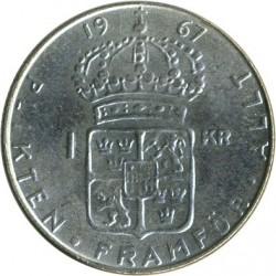 Pièce > 1krona, 1952-1968 - Suède  - reverse